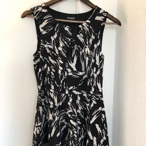 Black and white work dress